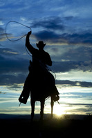 TOP ART WORK Painting American West Culture Cowboy Setting Sun Print Oil Painting On Canvas Custom
