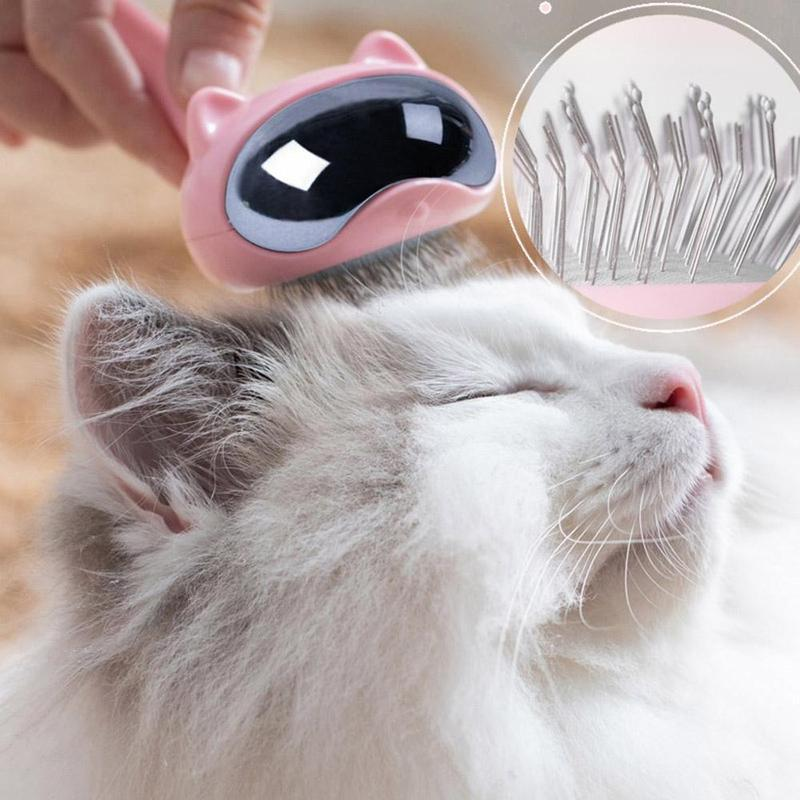 Misterolina Cat Accessories Lovely Pet Products Cats Grooming Supplies Massage Cat Hair Remover Rubber Brush Comb Carding Device