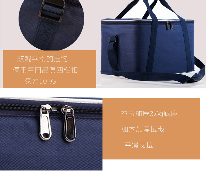 ZYJ Outdoor Cans Picnic Cooler Bag Takeout Warmer Food Thermal Car Ice Insulation Storage Shoulder Lunch Tote Box Cool Bag Pack (9)