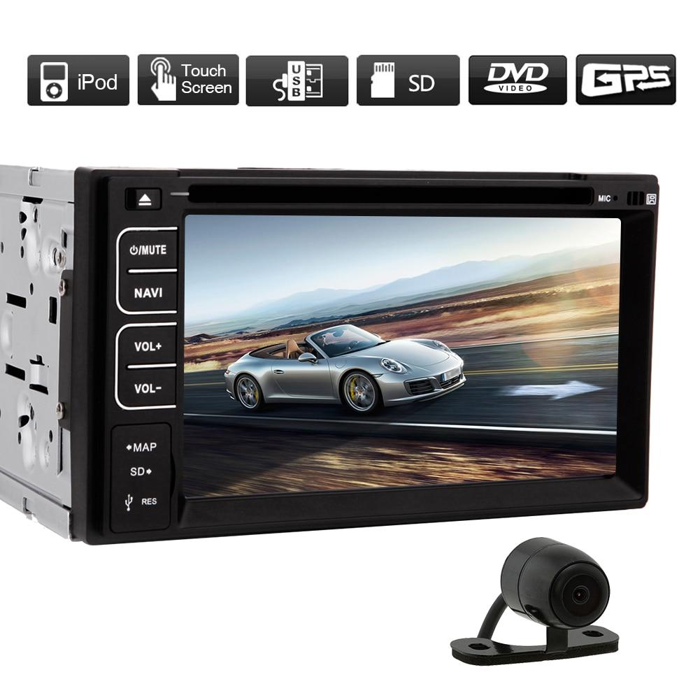 MP3 unité de tête Auto voiture lecteur DVD Autoradio CAM MP4 PC volant Radio GPS stéréo EQ carte écran tactile Bluetooth
