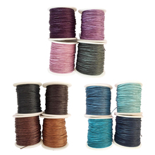 4 Rolls 1mm Waxed Cotton Cord Thread DIY Jewelry Making Beads Supply Waxed Thread Cord String Strap Bracelet Necklace Rope Bead 100yards spool 1mm waxed cotton cord thread cord plastic string strap diy rope bead necklace european bracelet ma