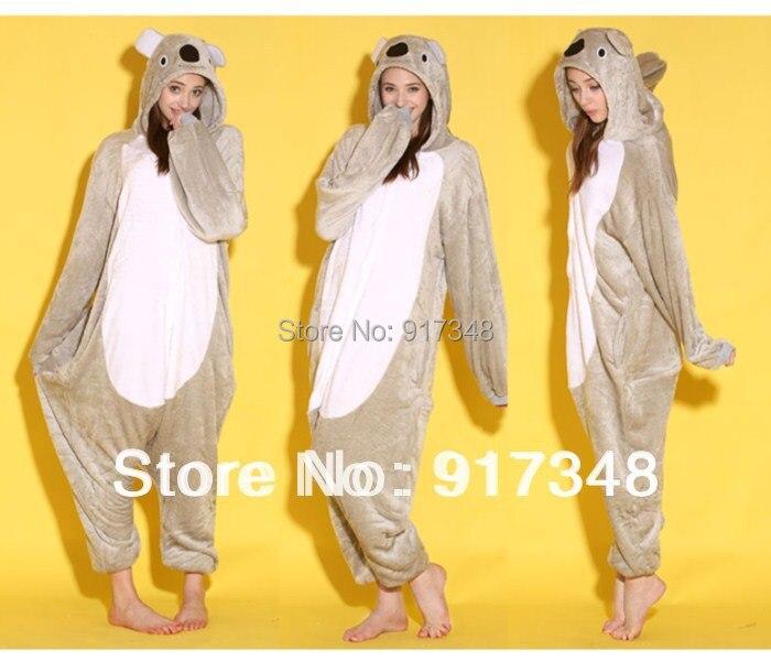 Wholesale Unisex Cartoon Animal Kaola Onesies Onesie Pajamas  Jumpsuit  Hoodies Sleepwear  for Adults for Halloween