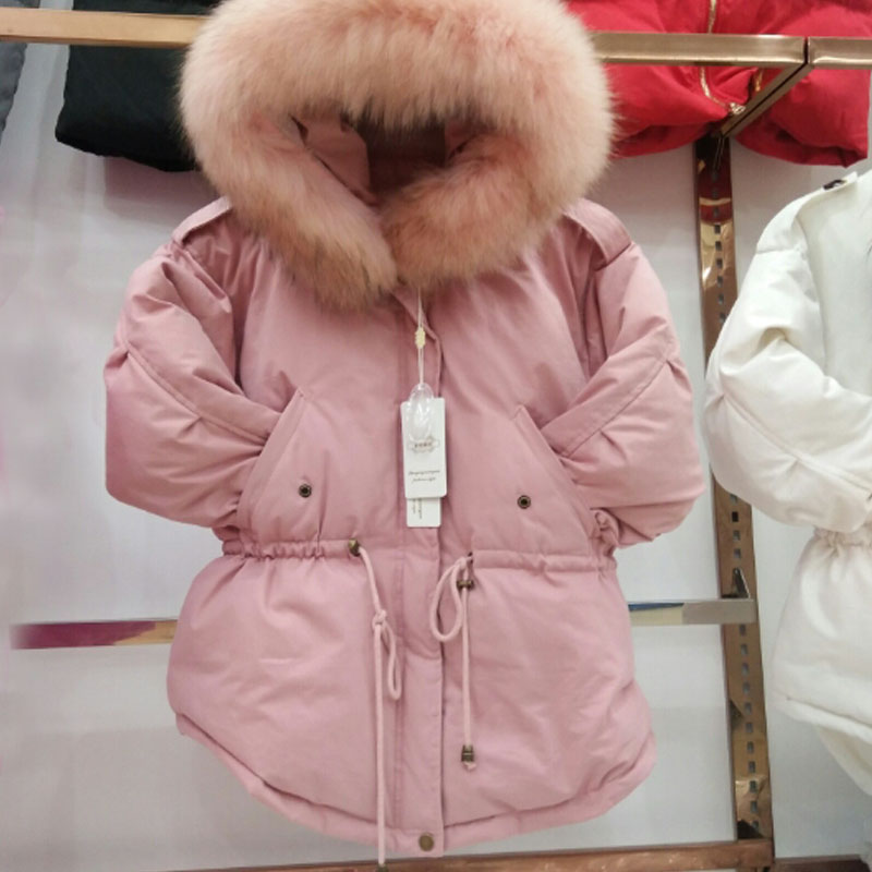 Winter Jacket Women   Down     Coats   Female 2019 Winter   Coat   Women's White Duck   Down   Jackets Raccoon Fur Collar Hooded Feather Parkas