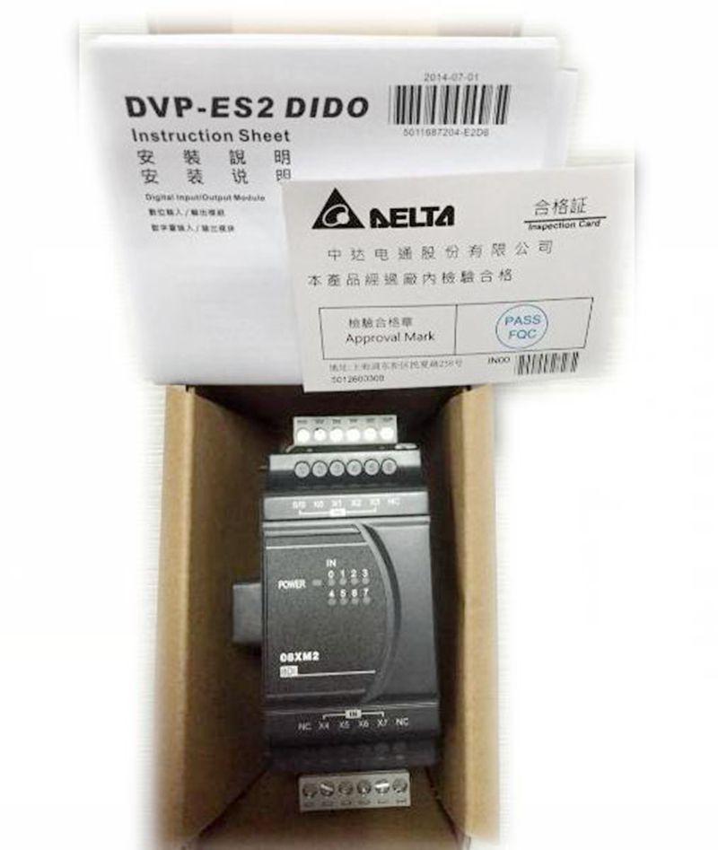 New Original DVP08XN211T PLC Digital module ES2 series 8DO Transistor output new original plc eh2 series digital extension module 8 point 8di 8do npn transistor dc power dvp16hp11r dvp16hp11t