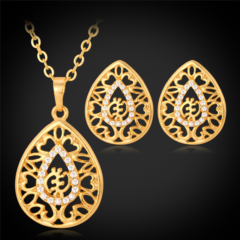 Collare Gye Nyame Except for God Jewelry Sets For Women Crystal
