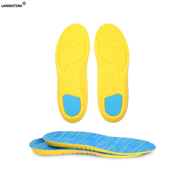 e00a8012ee Pu Sports Insoles Gel Cushion Foot Arch Support Pad Damping Sweat Deodorant  Breathable Insole Shoe Inserts