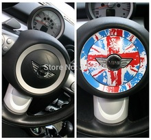 Aliauto 2 x Car-styling Steering Wheel Center Dedicated Car Sticker And Decal Accessories For BMW MINI COOPER