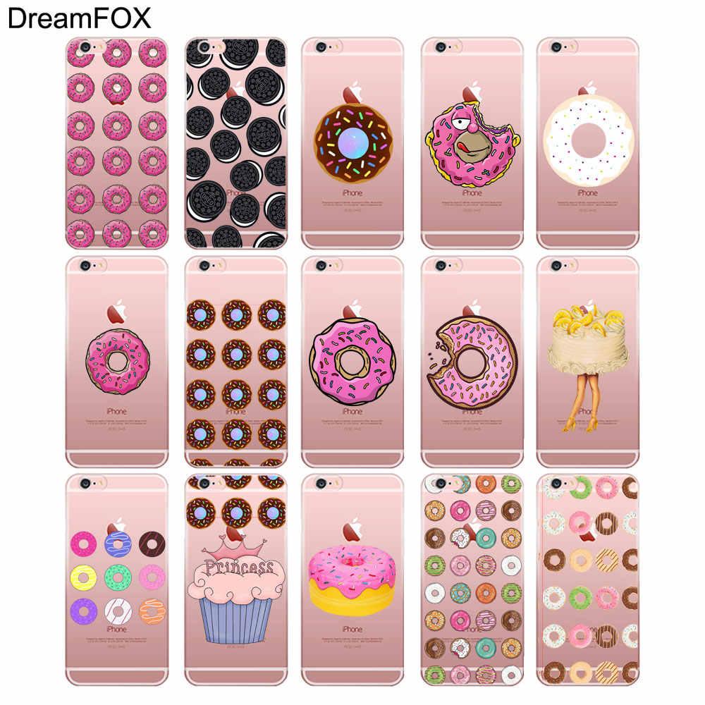 DREAMFOX L032 пончики любовь торт из конфет Мягкий ТПУ силиконовый чехол-накладка для Apple IPhone X XR XS Max 8, 7, 6, 6 S, Plus, 5, 5S SE 5C 4 4S