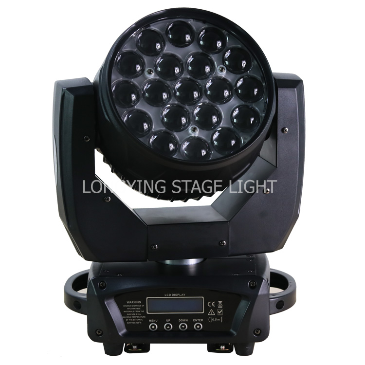 Gratis Verzending 4 stks/partij Cirkel Effect 19x12W RGBW Led Beam Wassen Zoom Moving Head Licht Voor Fase professionele Dj Apparatuur - 3