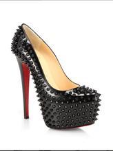 Bc frauen mode schwarz spitz high heels grund pumpen schuhe, Plus größe 5-14, kleid & Karriere & büro