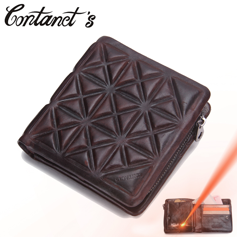 Wallet For Men Genuine Cowhide Leather High Quality New Vintage Coin Purse Trifold Designer Money Bag Business Card Holder Male coheart cowhide wallet men genuine leather wallet vintage purse top quality male wallet purse small money bag wholesale price