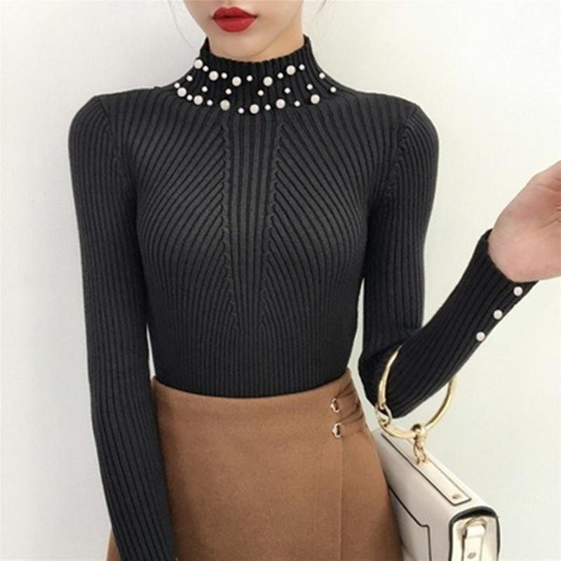 pearl pullover black