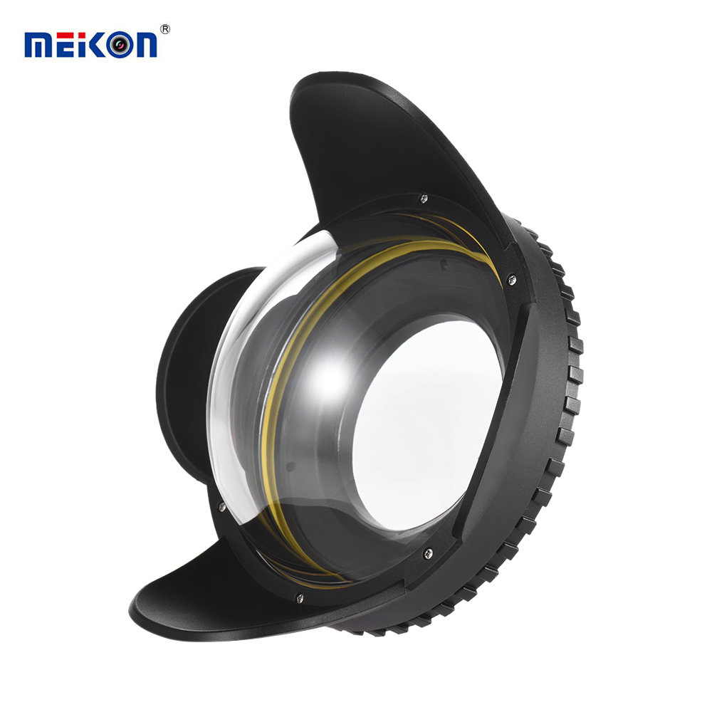 MEIKON Underwater Camera 200mm Fisheye Wide Angle Lens Dome Port Case Shade Cover 60m 197ft Waterproof