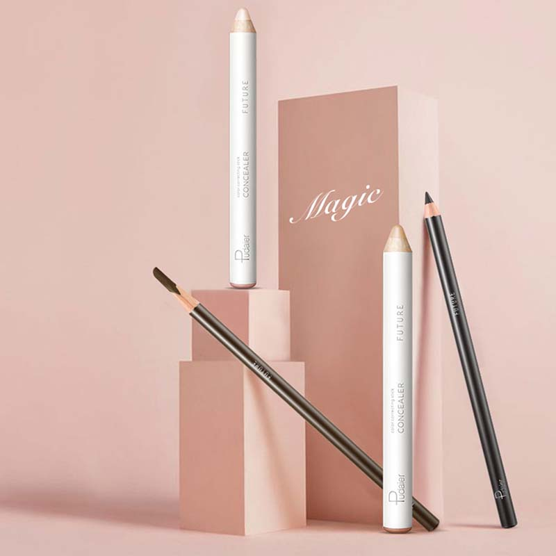 White Concealer Fixing Pen Set Eyebrow Pencil Shaping Brighten Eye Brow Makeup Waterproof Persistent With Sharpener Kit