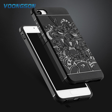 VOONGSON For Meizu U10 Case 5inch High Quality Soft Silicone 3D Dragon Armor Shockproof Rubber Heavry Duty Back Cover Phone Bags