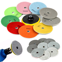 9pcs 4 Diamond Polishing Pads With M14 Self Adhesive Pad For Granite Marble Concrete Stone Wet