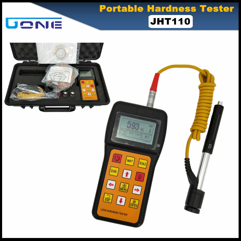 JHT110 Portable Hardness Tester Metal Alloy Hardness Measuring HRC HL HB HV HS HRB Hardness Testing Digital Display
