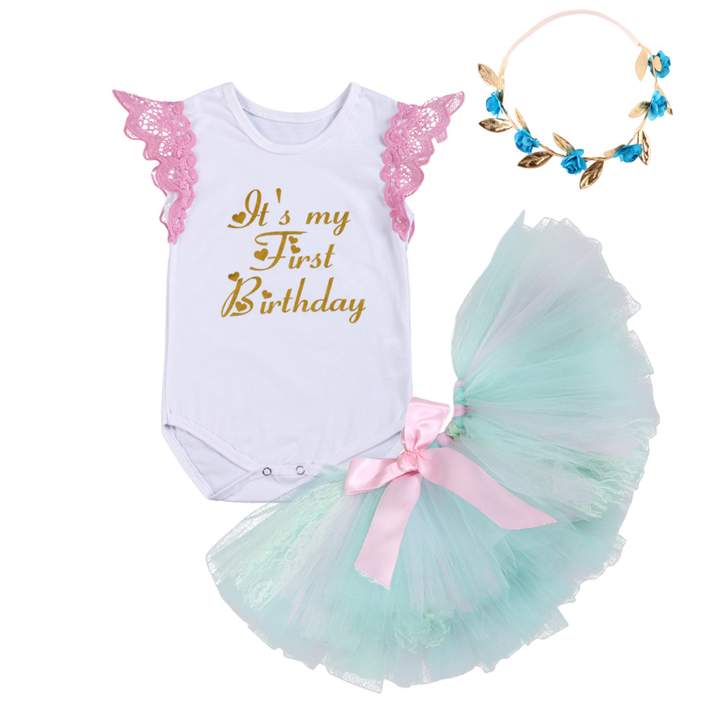 Baby Girl 1st Birthday Party Sets Baby Unicorn Tutu Cake Smash ...