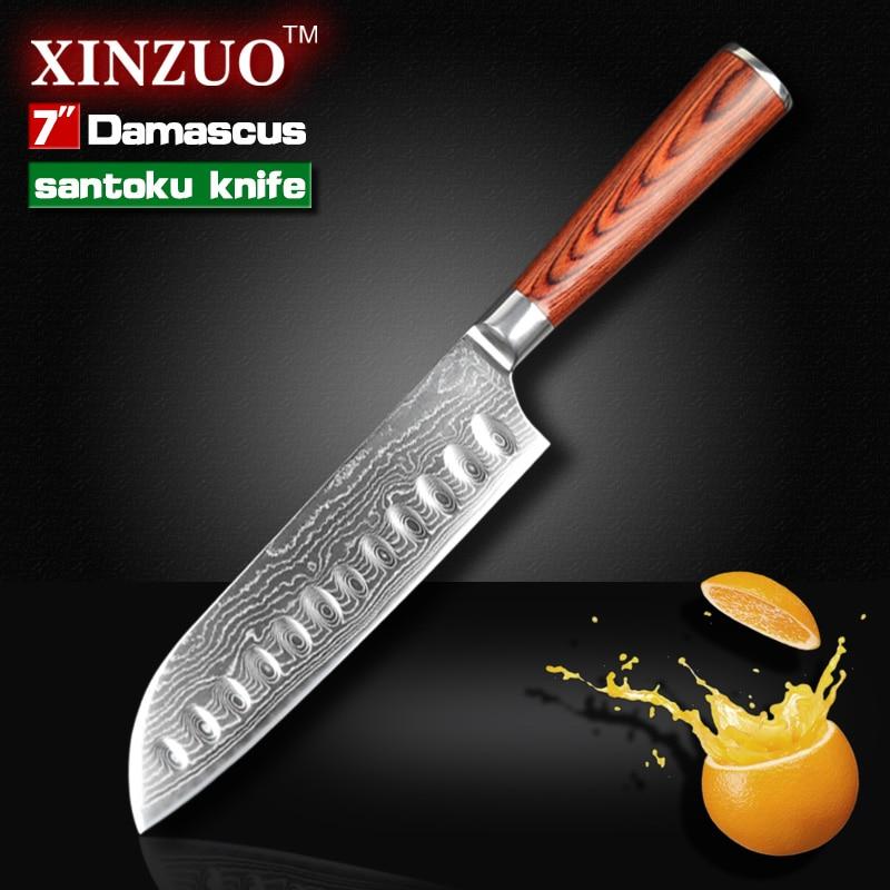 7 Japanese chef font b knife b font Japanese VG 10 73 layers Damascus kitchen font