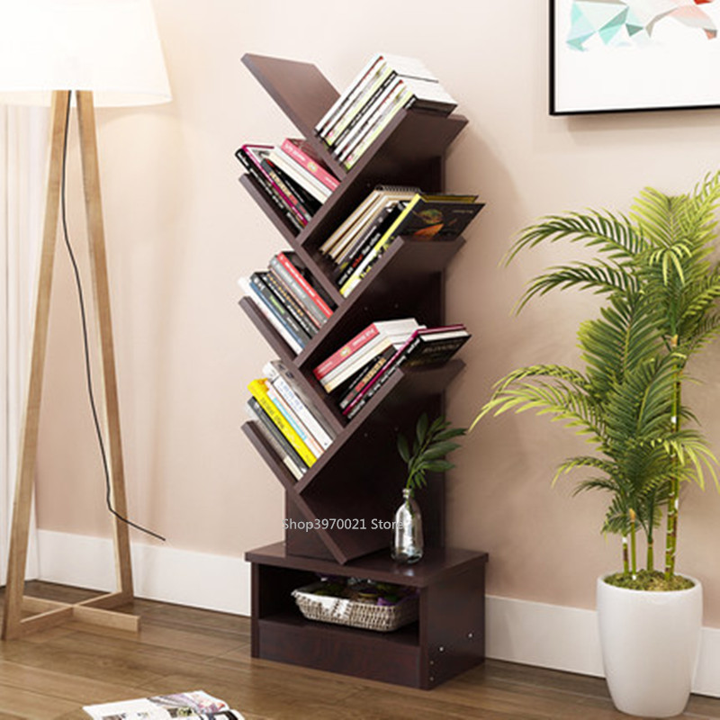 Modern 5 9 Tier Office Bookcase Wood Bookshelf Tree