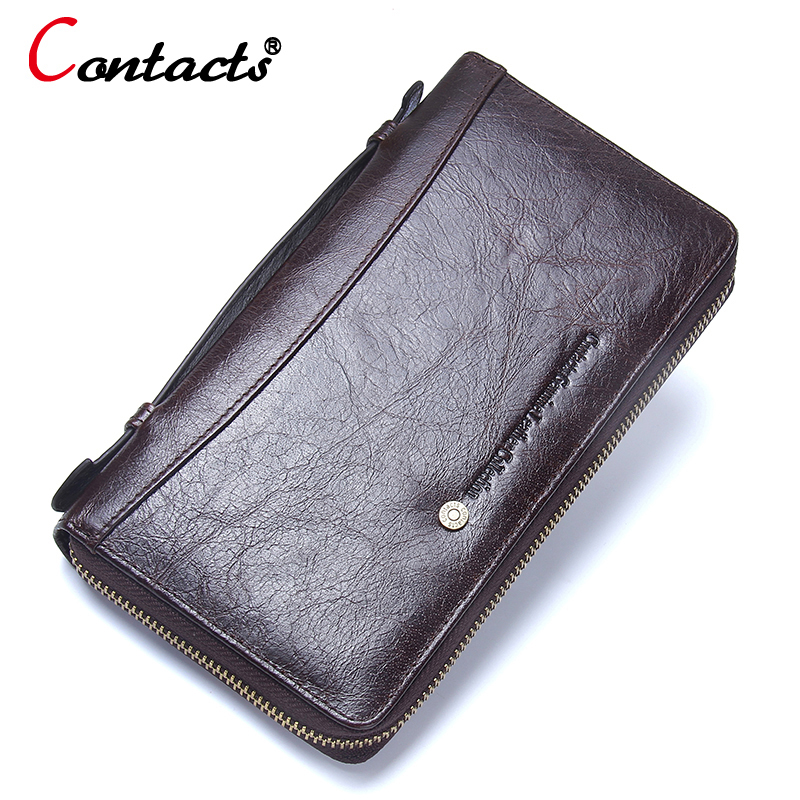 Contact's Coin Purse Mens Wallet Male Mens Wallet Leather Genuine Men's Wallets And Purses Men's Clutch Bag Business Card Holder top cow genuine leather short wallet women wallets and woman purses fashion coin clutch bag purse card holder