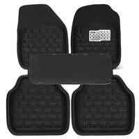 5PCs Set Universal Car Floor Mats Front Rear Carpet Auto Black Skidproof Mat