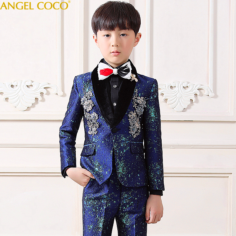 465e04088c60f Terno Infantil High end Sets Children Suit Blazer Boys Suits For Weddings  Formal Suit Costume Enfant Garcon Mariage Prom Suits