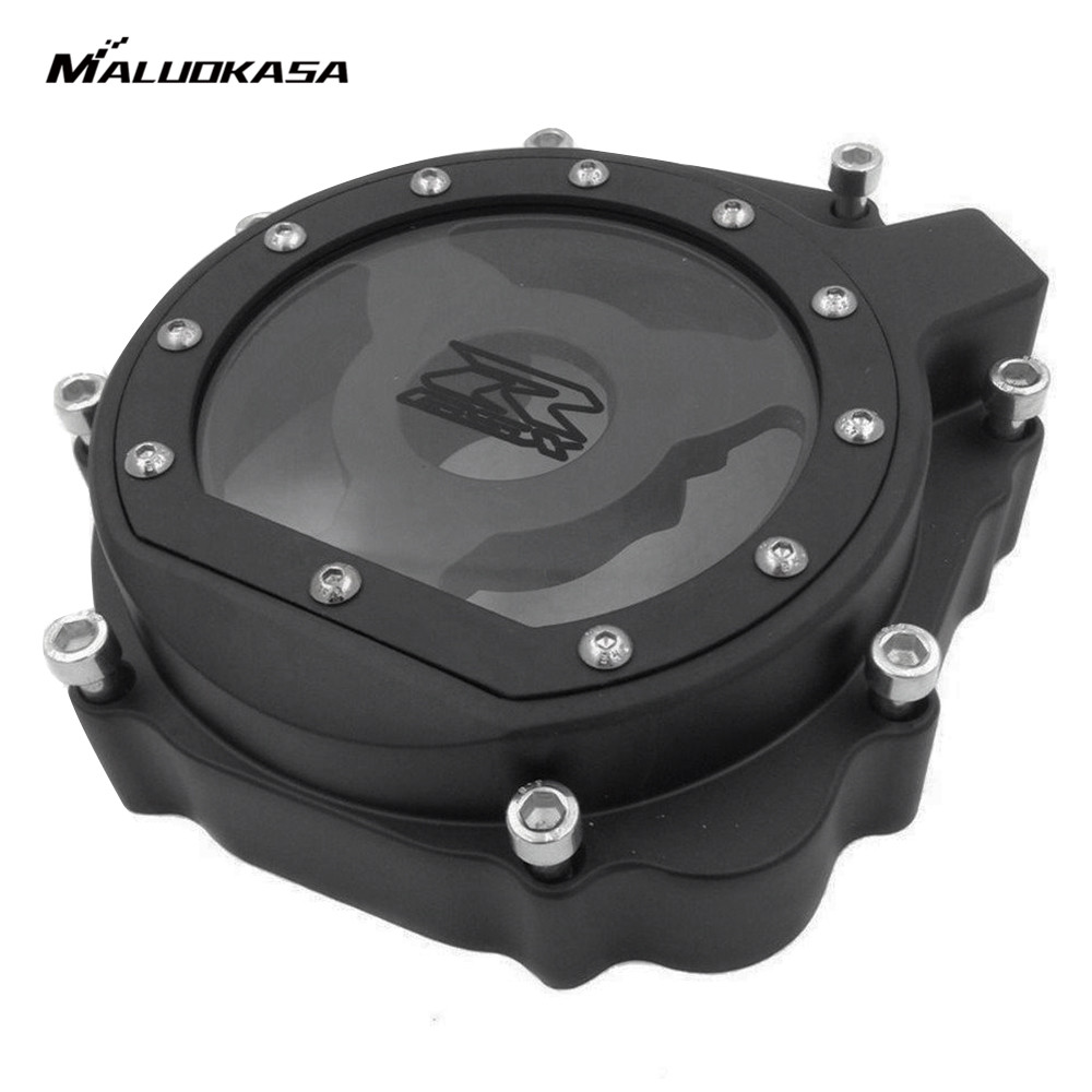 MALUOKASA Aluminum Engine Stator Cover See Through For Suzuki GSXR 600 750 2004 2005 Suzuki GSXR 1000 2003 2004 Moto Crankcase aluminum water cool flange fits 26 29cc qj zenoah rcmk cy gas engine for rc boat