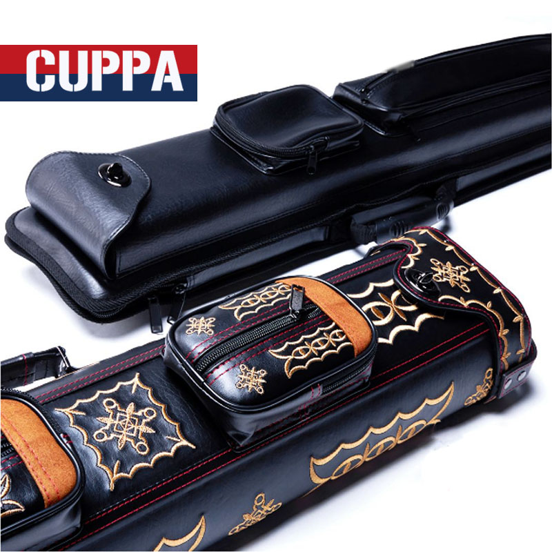Cuppa 3 Butts 5 Shafts Pool Cue Case 8 Holes Black Color China 2017  new cuppa pool jump cue 13 5mm black bakelite tips punch
