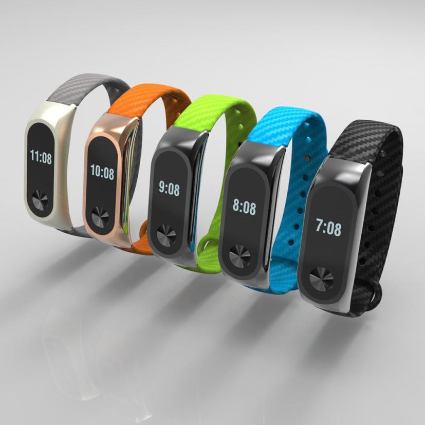 New Fashion TPE Wristband Business Style Strap Bracelet For Xiaomi Mi Band 2 Rattan belt breathable Sport Running Drop Shipping