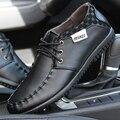 Hombres zapatos auténticos zapatos de cuero cordón comercial zapatos casuales otoño zapatos transpirables moda de cuero formales mocasines envío gratis