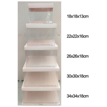 Дизайн 5 размеров 8 узоров прозрачная коробка для торта прозрачный цветок подарочная коробка Новые узоры прозрачная боковая бумага основа верхняя коробка для торта