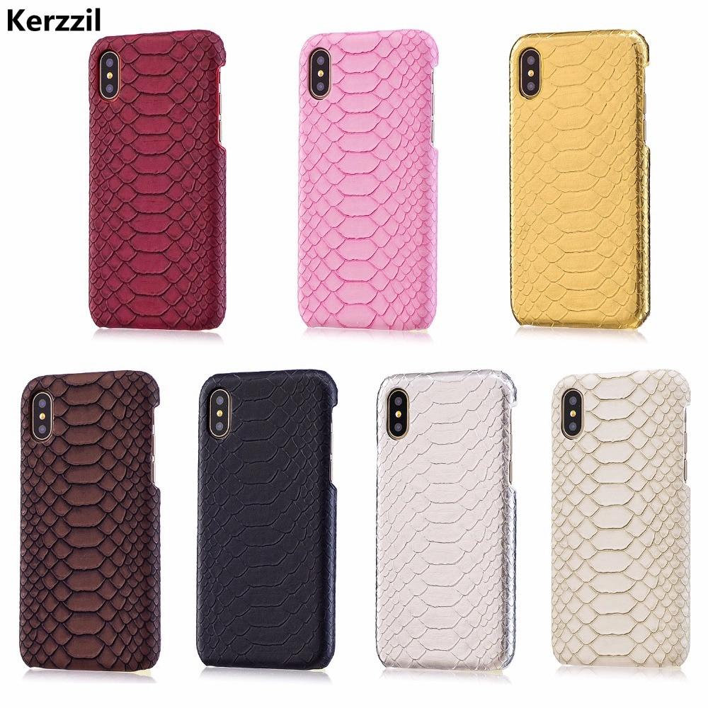 Kerzzil Retro Snake Skin Case For iPhone 7 8 6 6S Plus