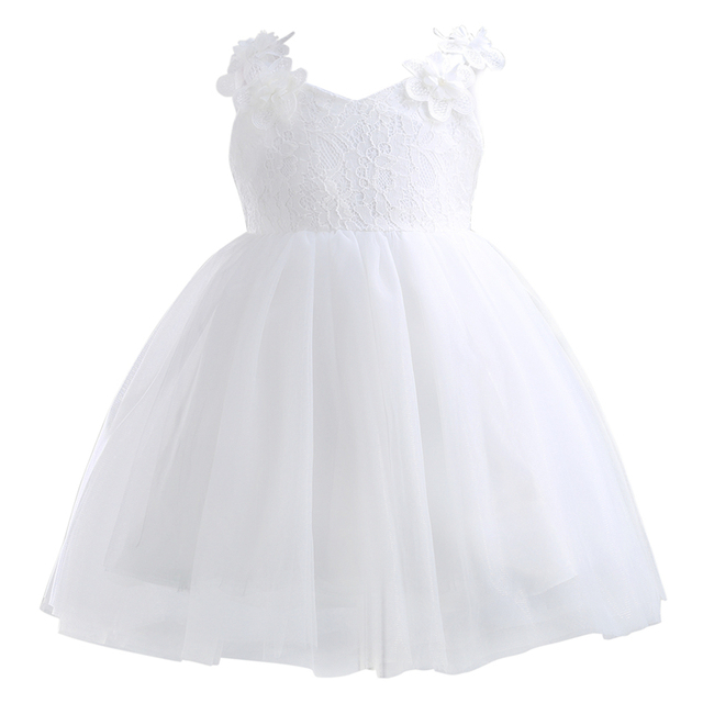 bfd2c40caffa1 pudcoco 2-12Y Baby kids girl white Princess Girls Party Lace Flower Bow Gown  Formal Bridesmaid wedding Dresses nice dress