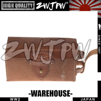 Japanese Army WWII WW2 38 Ammo Back Pouches Factory Supplier Real Leather JP/10421