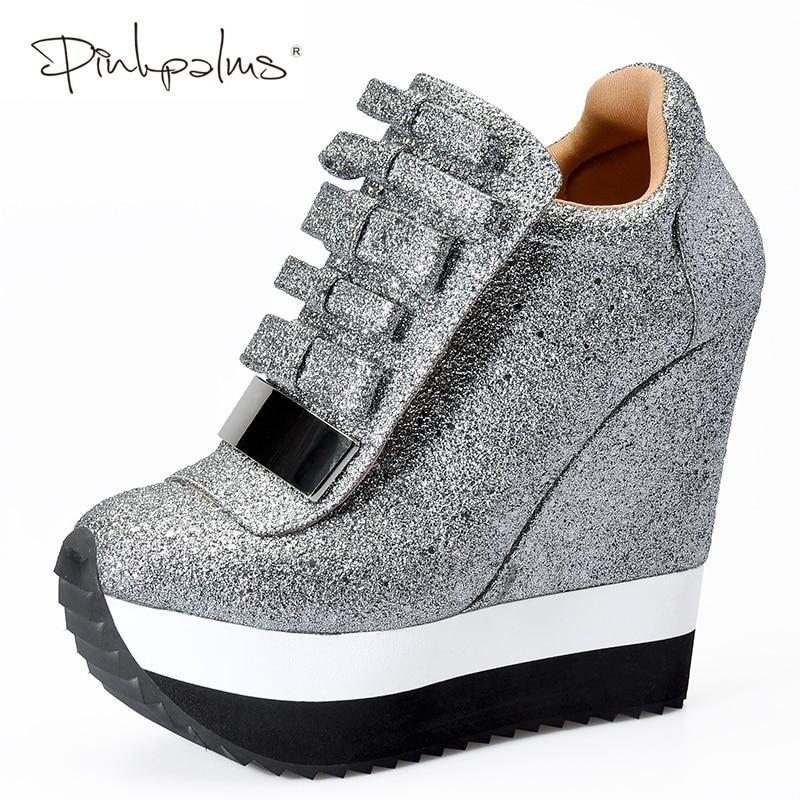 Pink Palms Shoes Women Height Increase Shoes Women Autumn Winter Pumps High Heels Trending Caramel Unique Design Sneakers