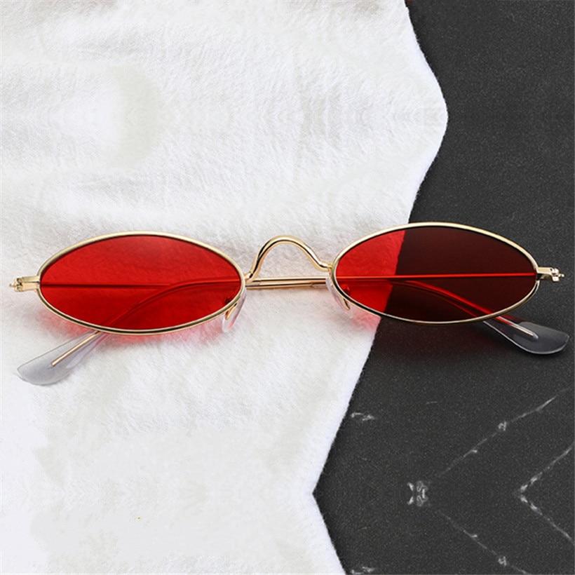 NYWOOH Red Oval Sunglasses Men Women Luxury Brand Designer Vintage Sun Glasses  Female Male Metal Small Round Eyewear