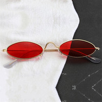574a732118 NYWOOH Red Oval Sunglasses Men Women Luxury Brand Designer Vintage Sun  Glasses Female Male Metal Small
