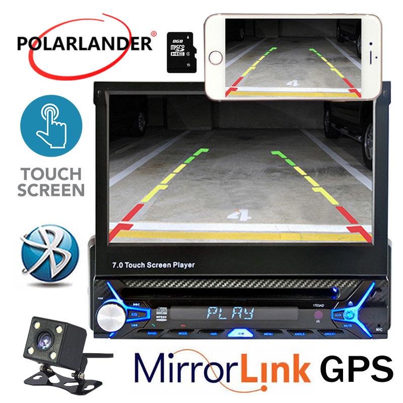 Gps 1 Din 7 дюйм(ов) Беспроводной WI FI DVD плеер Bluetooth рук свободный HD навигации Mp5 автомобиля радио Сенсорный экран + зеркало Ссылка