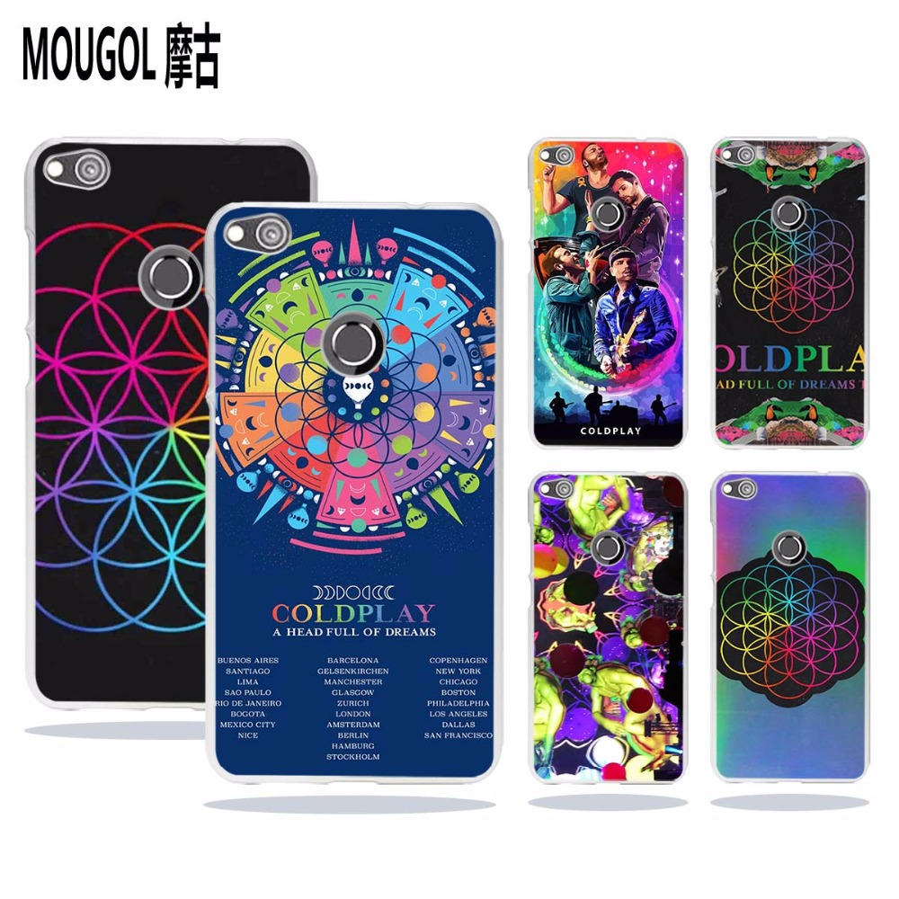 MOUGOL Coldplay A Head Full of Dreams design transparent hard Phone case cover for Huawei Honor8 P8 P9 P10 Lite 2017 Plus