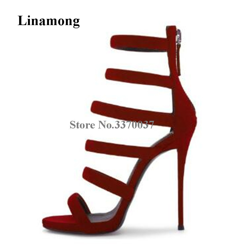 Classical Style Women Fashion Open Toe Suede Leather Stiletto Heel Gladiator Sandals Straps Cross High Heel Sandals Dress ShoesClassical Style Women Fashion Open Toe Suede Leather Stiletto Heel Gladiator Sandals Straps Cross High Heel Sandals Dress Shoes