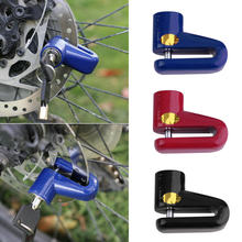 Security Protect Disc Brake Anti-theft Disk Disc Brake Wheel Rotor Lock For Scooter Bike Bicycle Alarm Lock(China)