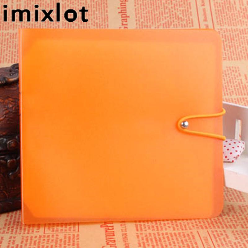 Imixlot Plastic CD DVD Disc Double Sleeve Holder Dustproof Carry Case Organizer Sleeve Wallet Cover Bag Box Random Color