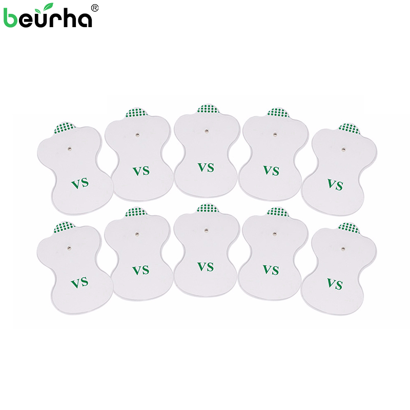 Beurha 10PCS Electrode Pads for Digital TENS Therapy Machine Electronic Cervical Vertebra Physiotherapy Massager Pad Medium 20pcs electrode pads for digital tens therapy machine electronic cervical vertebra physiotherapy massager pad medium frequency