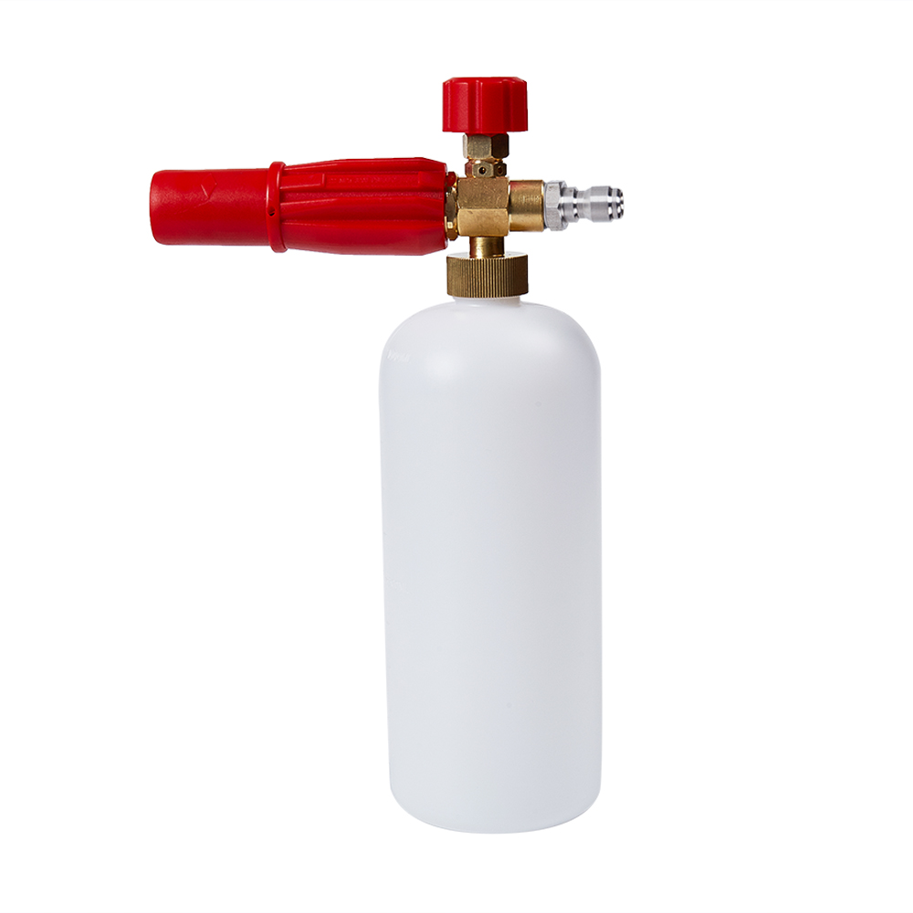 high pressure washer foam lance male adapter connect 14mm m22 x 1 4 Snow Foam Lance 1/4 Quick Release Adjustable Compatible Foam Cannon For High Pressure Washer