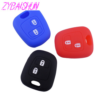 Silicone Rental Key Case for Peugeot 206 307 207 408 Citroen C2 C3 C4 Key Cover image