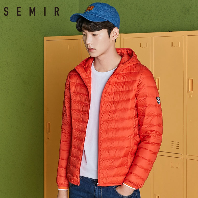 SEMIR 2019 Men Lightweight Down Jacket Winter Men Short Thin Windproof Warm Jacket Casual Fashion Male Soft Outwear Clothing