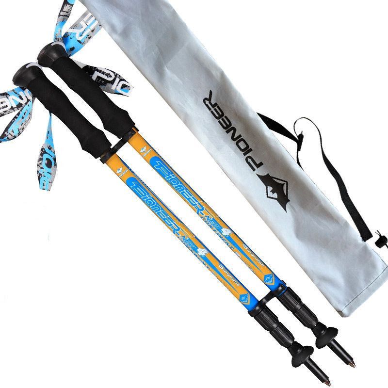 Carbon Fiber Adjustable Super Short 55cm 3 Sections Lightweight 170g EVA Handle Retractable Nordic Walking Sticks Hiking Pole