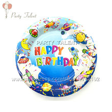 Party supplies 10PCS 7 inch space and science theme party decoration disposable tableware paper plate plates with food film