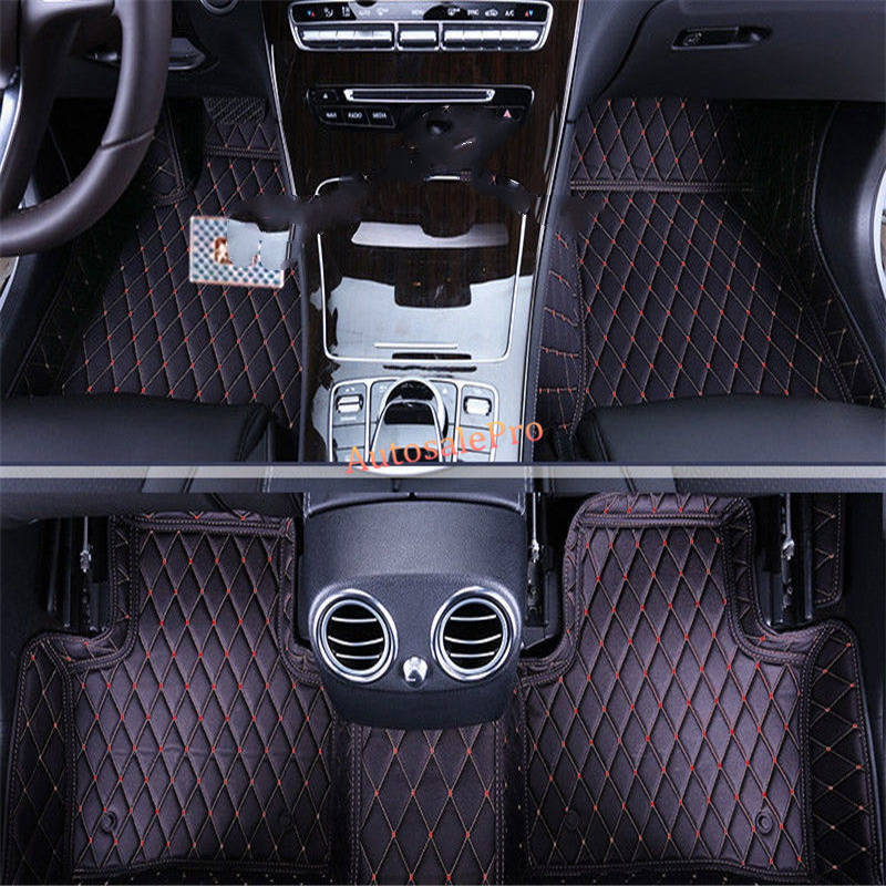 for Mercedes Benz C class W204 2008 2009 2010 2011 2012 2013 Right Left Hand Drive Black Front Rear Floor Mat Carpets Pad cover for nissan x trail 2008 2009 2010 2011 2012 2013 retractable rear cargo cover trunk shade security cover black auto accesaries